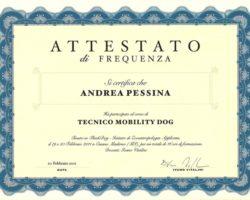 Attestato - Tecnico Mobility Dog