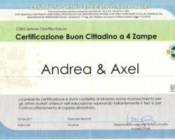 Certificato BC4Z - Axel